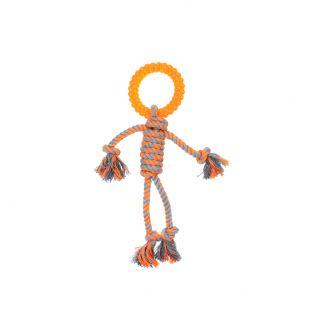MISOKO&CO Игрушка для собак, маленький человек, оранжевый, 30.5 см