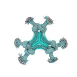 MISOKO&CO Игрушка для собак, с жевательными узелками, голубая, 20 см
