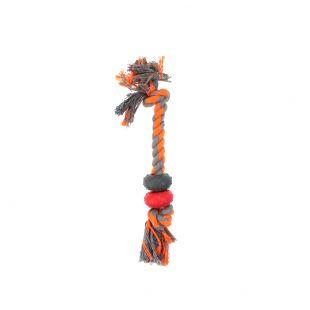 MISOKO&CO Mänguasi koertele, rõngastega nöör oranž, 30.5cm