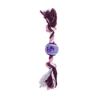 MISOKO&CO Игрушка для собак, с теннисным мячом, фиолетовая, 30.5x5 см