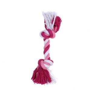 MISOKO&CO Игрушка для собак, витая веревка, розовая 15 см