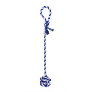 MISOKO&CO Игрушка для собак, веревка с мячом, синяя, 55х7 см