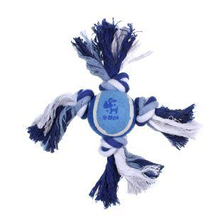 MISOKO&CO Игрушка для собак, мяч с узелками, синий, 27см