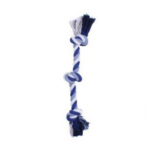 MISOKO&CO Игрушка для собак, короткая веревка с узлом, синяя, 38 см