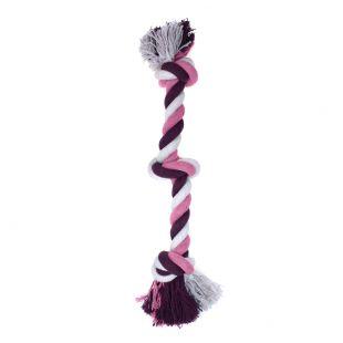 MISOKO&CO Игрушка для собак, длинная веревка с узлом, фиолетовая, 43 см