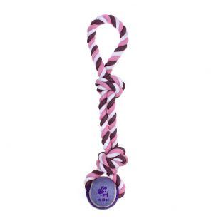 MISOKO&CO Игрушка для собак, веревка с мячом, фиолетовая, 40 см