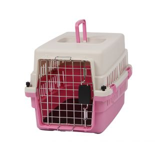 KANING Бокс для перевозки животных 50x34x32 см, розовый