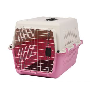 KANING Бокс для перевозки животных 67x51x47 см, розовый