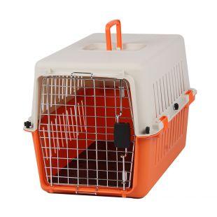 KANING Бокс для перевозки животных 61x40x39 см, оранжевый