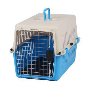KANING Бокс для перевозки животных 61x40x39 см, светло-синий