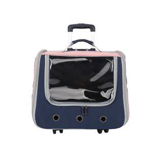 PAW COUTURE Lemmiklooma kandekott ratastega, 42x30x36 cm, sinine