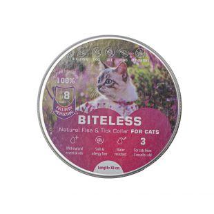 BITELESS Silikoonist parasiitidevastane kaelarihm  kassidele 38 cm