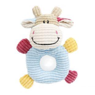 HIPPIE PET Mänguasi koertele, lehm, 14x19 cm
