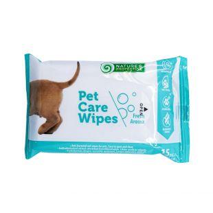 NATURE'S PROTECTION antibakteriaalsed salvrätikud lemmikloomadele lõhnata, 15 tk.