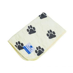 HIPPIE PET многоразова? пеленка дл? домашних животных 80x90 см, желтый с лапами (размер L)