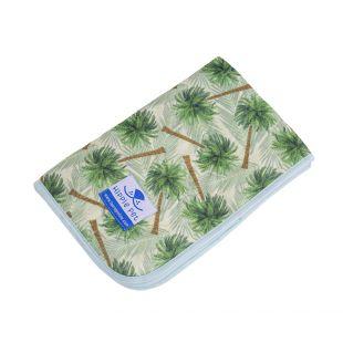 HIPPIE PET mitmekordselt kasutatav 80x90 cm rohelised palmipuud (suurus L)