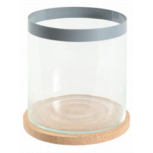 ZOLUX Аквариум цилиндрический, серый, 12 л