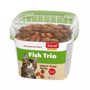 SANAL Fish Trio cup, lisasööt kassidele, 75 g
