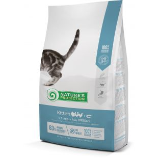 NATURE'S PROTECTION Kuivtoit kassipoegadele Kitten Up to 1 year Poultry with krill 7 kg x 2