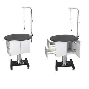 SHERNBAO Круглый гидравлический стол со шкафом
