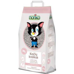 NORIKO наполнитель для кошачьего туалета, комкующийся, с тальком, 10 kg