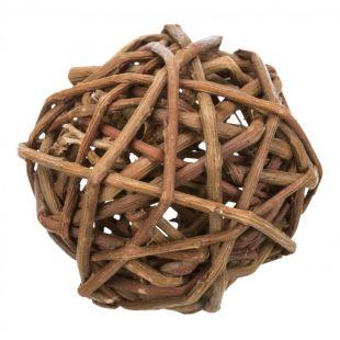 TRIXIE Игрушка для грызунов клубок плетеный, 10 см