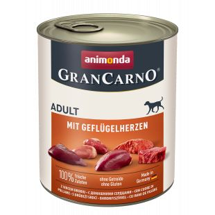 ANIMONDA Grancarno adult kodulindude südametega konservtoit koertele 800 g
