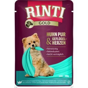 FINNERN MIAMOR Rinti gold konserv koertele kana- ja linnusüdamega 100 g, kana- ja linnusüdametega