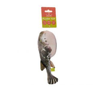 HIPPIE PET Игрушка для кошек с кошачьей мятой, Колючая рыба, 23x7x4 см