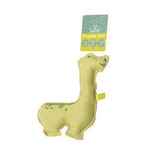 HIPPIE PET Игрушка для собак, Динозавр, зеленый, 14x20x3 см