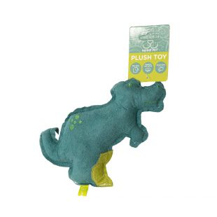 HIPPIE PET Игрушка для собак, Динозавр, синий, 20x15x3 см