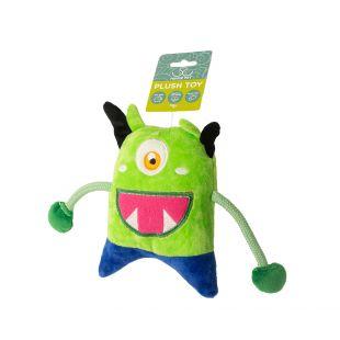 HIPPIE PET Игрушка для собак, Монстр, зеленый, 19x13x4 см