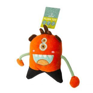 HIPPIE PET Игрушка для собак, Монстр, оранжевый, 19x13x4 см