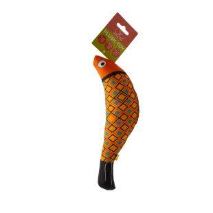 HIPPIE PET Игрушка для кошек с кошачьей мятой, Рыба, оранжевая