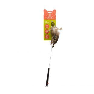 HIPPIE PET Игрушка для кошек, удочка с перьями, разноцветная, 48 см