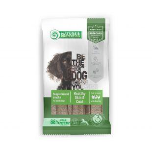 NATURE'S PROTECTION Healthy Skin & Coat with Poultry Adult All breeds täiendav toit-maiused kodulindudega täiskasvanud koertele 160 g