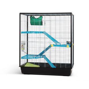 SAVIC Zeno 3 Empire Knock Down väike näriliste puur hõbe, 100 x 50 x 118 cm