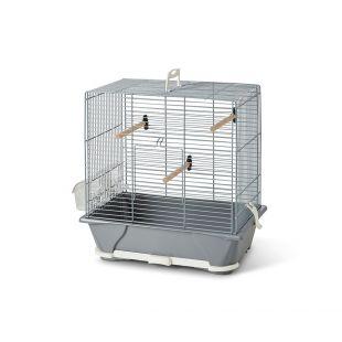 SAVIC Клетка для птиц Primo 30 серебро, 40 x 24 x 42 см