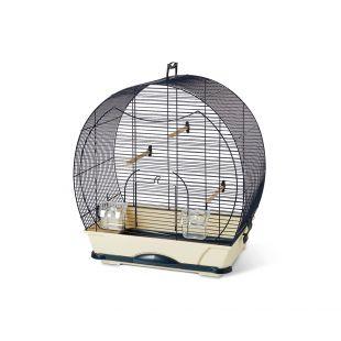 SAVIC Evelyne 40 väike linnupuur tumesinine, 52 x 32,5 x 55 cm
