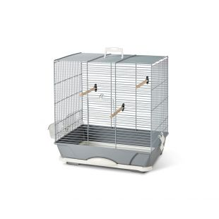 SAVIC Клетка для птиц Primo 40 серебряный цвет, 46 x 31,5 x 48 см