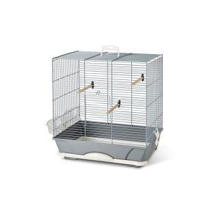 SAVIC Клетка для птиц Primo 40 серебро, 46 x 31,5 x 48 см