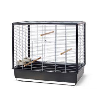 SAVIC Клетка для птиц Noah Knock Down серебристо-черный, 80 х 50 х 70 см