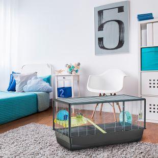 SAVIC Клетка для хомяков Hamster Plaza серебряный цвет, 100 х 50 х 50 см