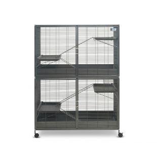 SAVIC Маленькая клетка для грызунов Suite Royale XL цвет антрацит, 115 x 67,5 x 152,5 см,