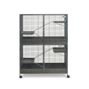 SAVIC Suite Royale XL väike näriliste puur antratsiithall, 115 x 67,5 x 152,5 cm,