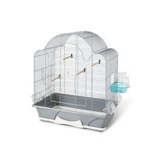 SAVIC Клетка для птиц Melodie 50 серебряный цвет, 64 х 38 х 73 см
