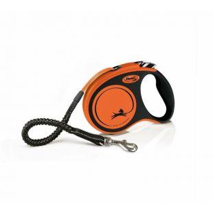 FLEXI Xtreme Ленточный поводок L, ленточный, макс 20 kg, 5 м, оранжевый