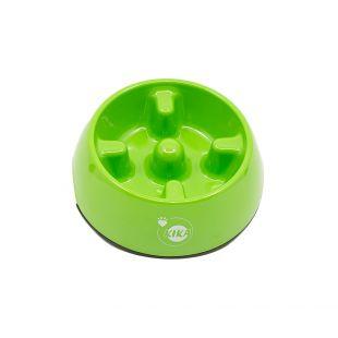 KIKA Миска для медленного поедания для собак меламин, зеленая, размер L