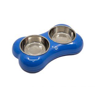KIKA BONE SHAPE Lemmiklooma kauss topelt, sinine, suurus M