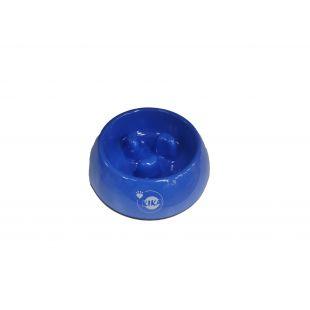 KIKA Миска для медленного поедания для собак меламин, синяя, размер S